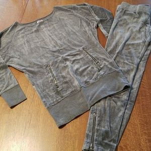 Juicy Couture vintage velour silvery lounge suit